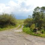 Po poľnej ceste na vrch chotár je to asi 500 m